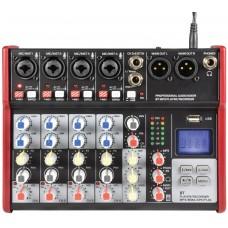 Citronic CSM-6 Mixer 6ch/USB/BT Play-Rec 170.872UK