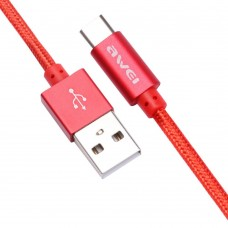 Awei CL-85 USB Type-C Cable 30cm 2.A Red