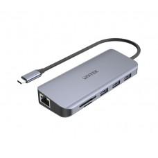 Unitek D1026B TypeC Hub 3xUSB3.0/HDMI/VGA/Gb/SD/PD