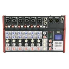 Citronic CSM-8 Mixer 8ch/USB/BT Play-Rec 170.873UK