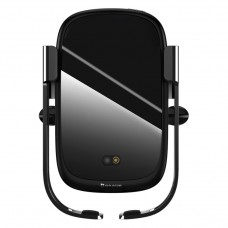 Baseus Rock-Solid Wireless Car Charger/Holder Black