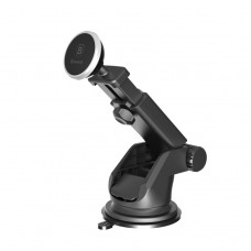Baseus SOLID Telescopic Magnetic Car Mount Black/Silver