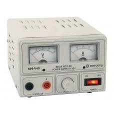 Mercury Regulated Power Supply 0-20V 2A 650.673UK