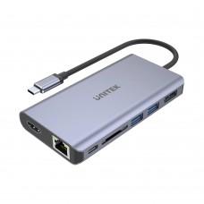 Unitek D1056A Type-C 3.1 HDMI/DP/RJ45/SD/PD100W Hub Space Grey