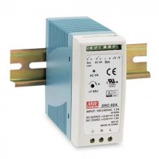 Meanwell DRC-60A DIN Rail Power Supply with UPS Function 12V 60W