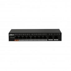 Dahua PFS3010-8ET-96 PoE Switch 8port+2GUP 96W