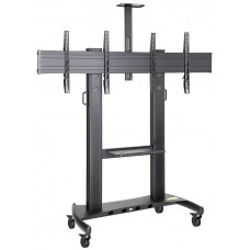 NBMounts AVT1800-65-2A Twin Screen Conference Trolley 1.7m up to 65''