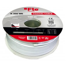 FTE K300WE Coaxial Cable RG6 Copper 100m